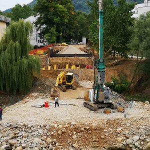 Постављени шипови за нови Зелени мост