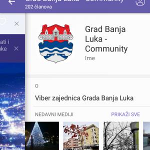 Град Бања Лука и на виберу