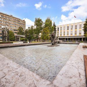 Обновљена фонтана испред Народне скупштине