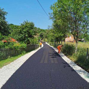 Асфалтиран пут Агино села – Сијена