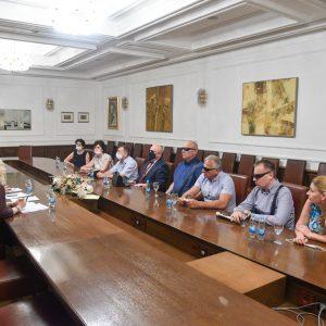 Уприличен пријем за делегацију Градске организације слијепих