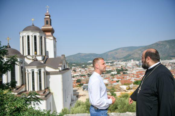 Градоначелник обишао Саборну цркву у Мостару: Ово је једна виша идеја, морамо заједно гледати у будућност