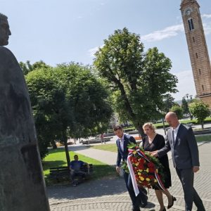 Годишњица смрти бана Милосављевића: Положен вијенац на споменик у центру града