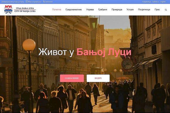Редизајнирана интернет страница Града