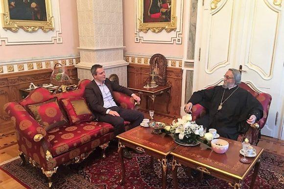 Сусрет предсједника Скупштине града и епископа Јефрема