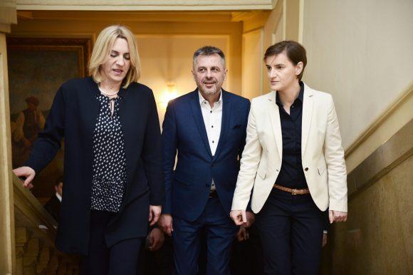 Састанак са предсједницом Владе Србије