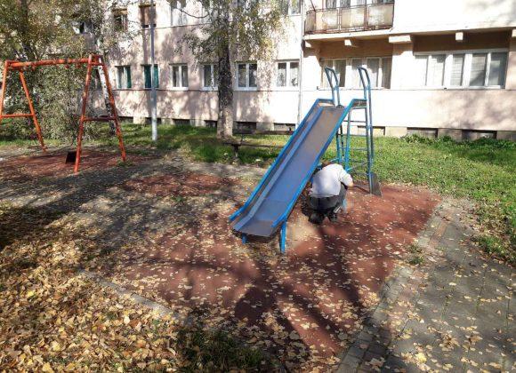 Поправке на игралишту у ул. Васе Пелагића