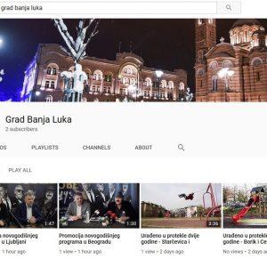 Град Бања Лука покренуо и јутјуб канал