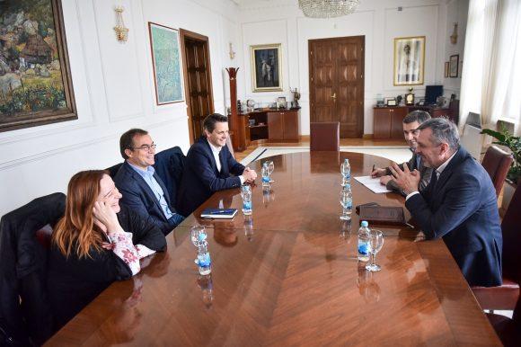 """Радојичић са представницима Фондације """"Фридрих Еберт"""""""