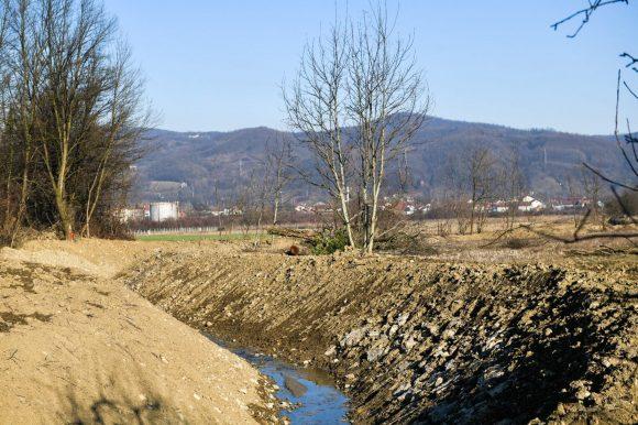 Уређено корито Кочићевог потока