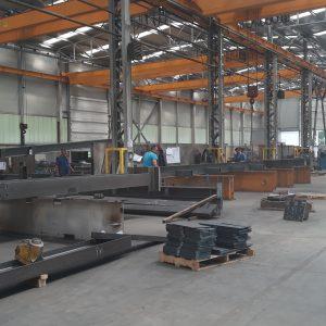 Припрема челичне конструкције за нови мост